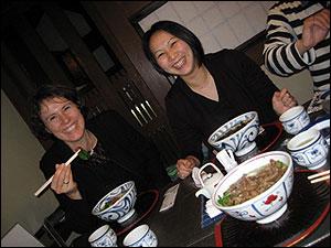 日本ツアー時に日本食