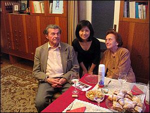 ヴァーツラフ・スニーチル教授と奥様と先生のご自宅で