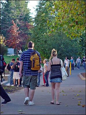 緑豊かなソノマ州立大学