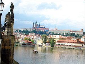 ヴルタヴァ川とお城