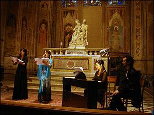 イタリアの教会で発表会