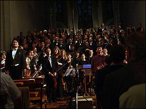 教会での合唱コンサート